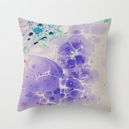 Purple Haze Marbleized print Throw Pillow