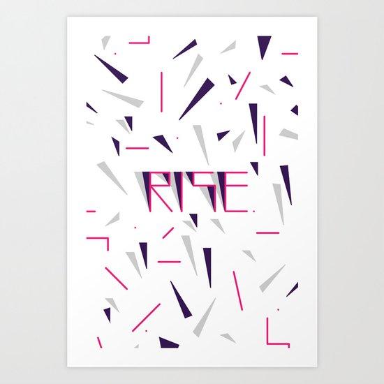 Rise No.2 - White Art Print