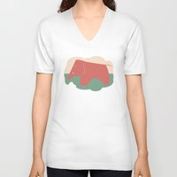 eames V-neck T-shirts featuring Eames Elephant by Melissa Nocero