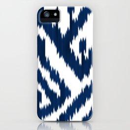 Indigo ikat 10 iPhone Case