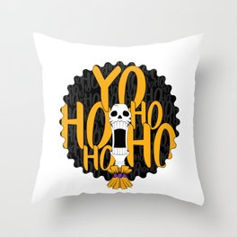 Pirates Life for me (yellow) Throw Pillow