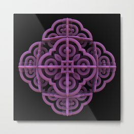Purple Emblem Metal Print