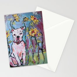 Libby the Pitbull Dog Stationery Cards