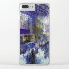 Kings Cross Station Van Gogh Clear iPhone Case