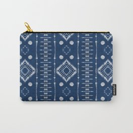 "Shibori Style ""Ladder"" Carry-All Pouch"