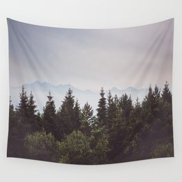 Mountain Range - Landscape Photography Wall Tapestry