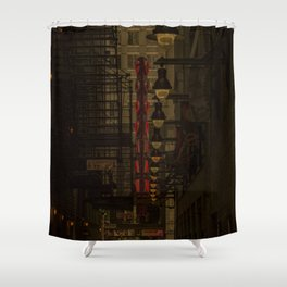Old Goodman Theatre Sign from Alley Chicago Illinois Shower Curtain