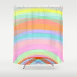 Double Rainbow - Fluor colors - Unicorn dreamers Shower Curtain