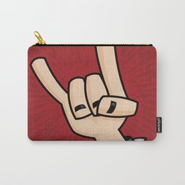 Heavy Metal Devil Horns Hand Sign Carry-All Pouch
