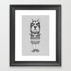 DOG casual. Chief. Framed Art Print