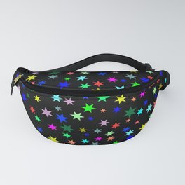 Stars on black ground Fanny Pack