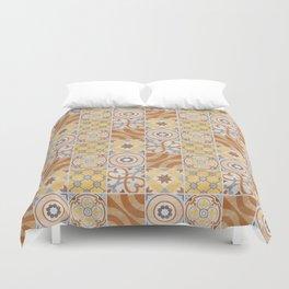 Patchwork pattern - Quilt Design - yellow, brown, beige Duvet Cover