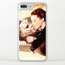 Michael Myers as Clark Gable Clear iPhone Case