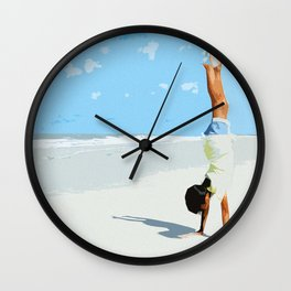 Handstand Wall Clock