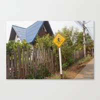 animal crossing Canvas Prints featuring Crossing by TheStaticTraveler