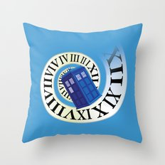 TARDIS in Time Throw Pillow