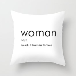 Woman (Definition) Throw Pillow