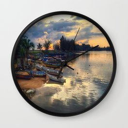 FISHERMAN_BOAT Wall Clock
