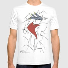 Heart & Hand Mens Fitted Tee White MEDIUM