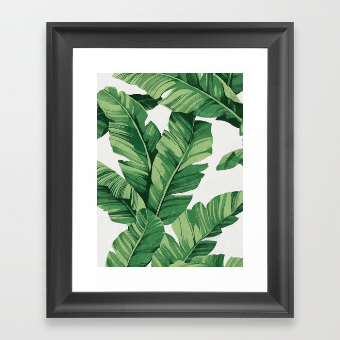 Tropical banana leaves Gerahmter Kunstdruck
