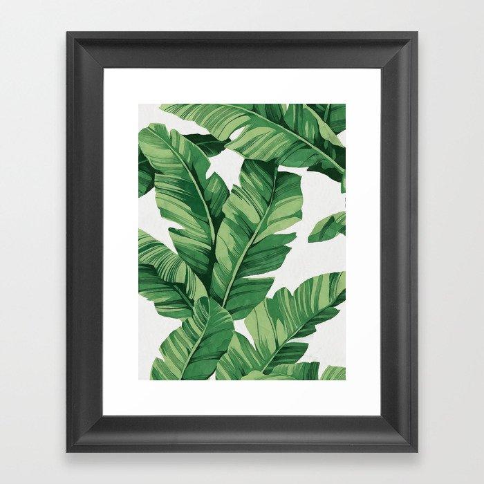 Tropical banana leaves Gerahmter Kunstdruck