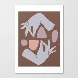 Handy Shapes Canvas Print