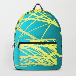 Linear Flow-Blue Gold Backpack