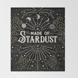 Made of Stardust – Black & Gold Palette Throw Blanket