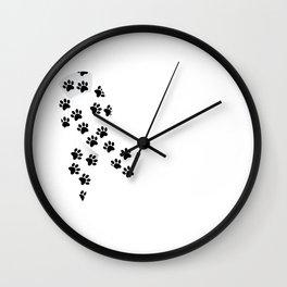 I Am Against Animal Abuse Graphic Ribbon T-shirt Wall Clock