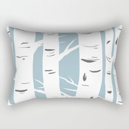 Blue Birches Rectangular Pillow