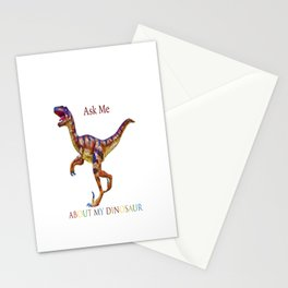 Ask Me About My Dinosaur Stationery Cards