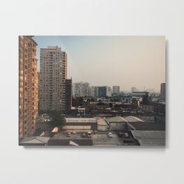 Rear Window View Metal Print