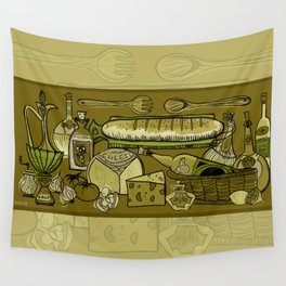 My Mid-Century Kitchen Wall Tapestry