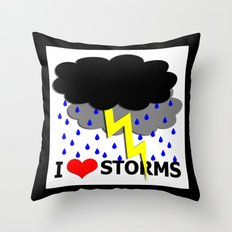i heart storms Throw Pillow