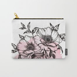 Floral Fragrance Pink Carry-All Pouch