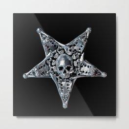 Skeleton Bone Pentagram 02 Metal Print