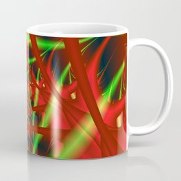 Red and Green Filament Spiral Coffee Mug