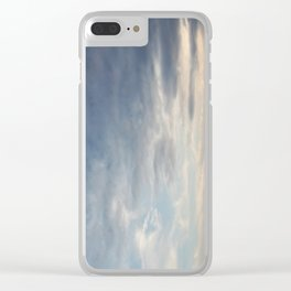 Clouds finger painted by Angels Clear iPhone Case