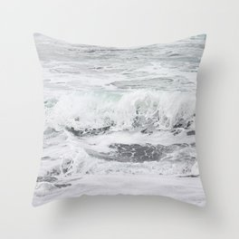 Minty bubble gum Throw Pillow
