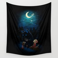 dragon ball z Wall Tapestries featuring Camping 2 by Freeminds