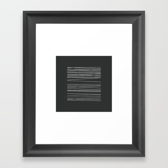 #34 Threads – Geometry Daily Framed Art Print