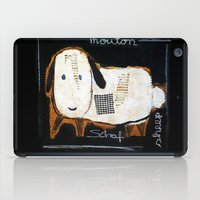 sheep iPad Cases featuring sheep by woman