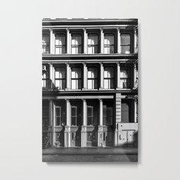 New York City, Soho Series, Black & White 2 Metal Print
