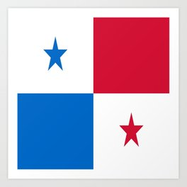 flag of panama-Panama,Panamanian,canal,spanish,San Miguelito,Tocumen,latine,central america,panameno Art Print