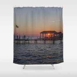 Sunset on the James River Shower Curtain