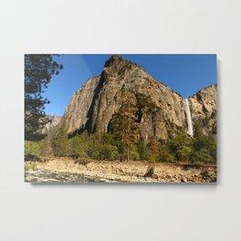 Peaceful Yosemite Valley Scene Metal Print