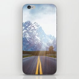 Mountain Road - Grand Tetons Nature Landscape Photography iPhone Skin