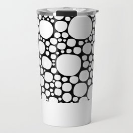 Circles in Black and White Mode Travel Mug