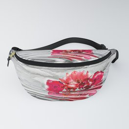 Snowy Flowers Reflections Fanny Pack