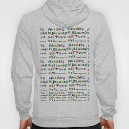 alphabet2-alphabet,letters,child,language,fun,abc,abcdefg,symbols,abecedarium,script,write,writing Hoody